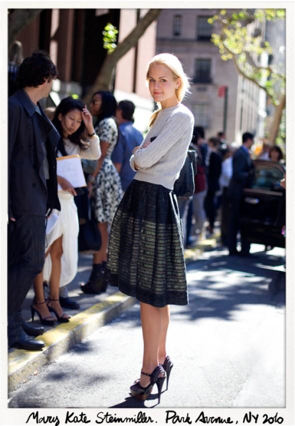 Mary-Kate-Steinmiller-pulover bej tricot-garance