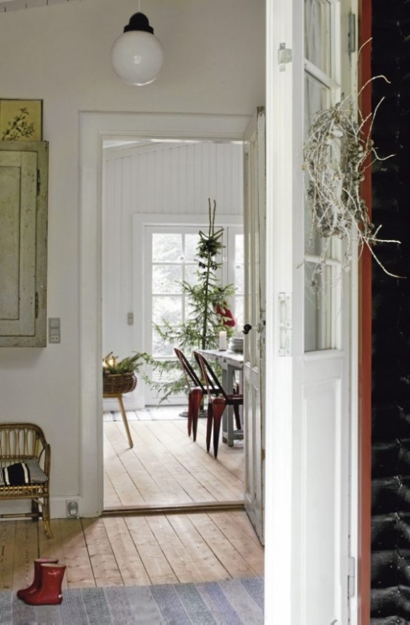 danish home decorated for christmas