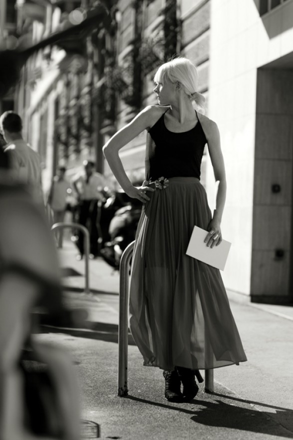 Milan street style black and white photo the sartorialist