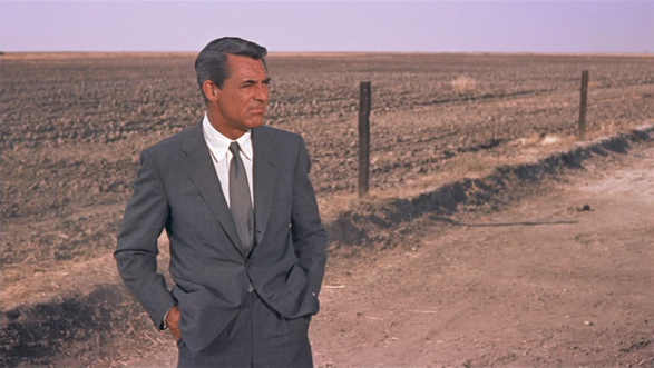 cary grant's grey suit in north by northwest