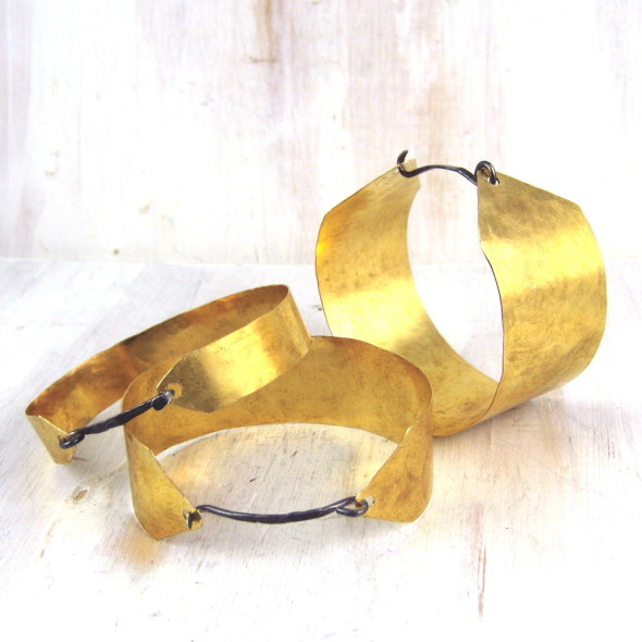 Fail Deco Cuff, Oxidized Silver and Brass