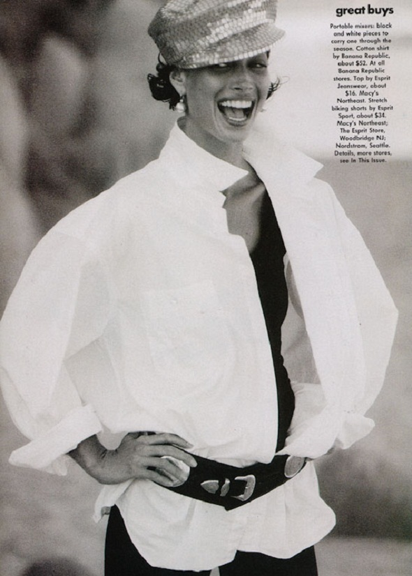 Patrick Demarchelier vogue us-may 1991-christy turlington