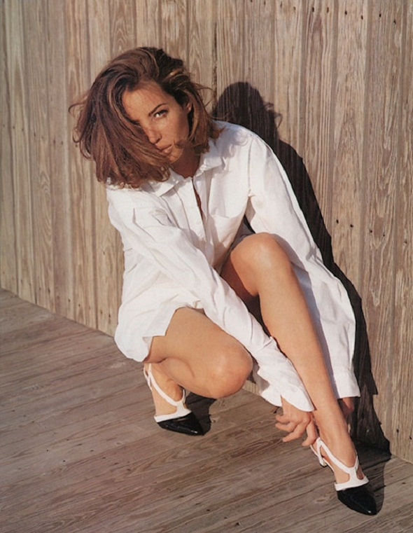 christy turlington-perry ellis shoes-vogue us-dec 1989