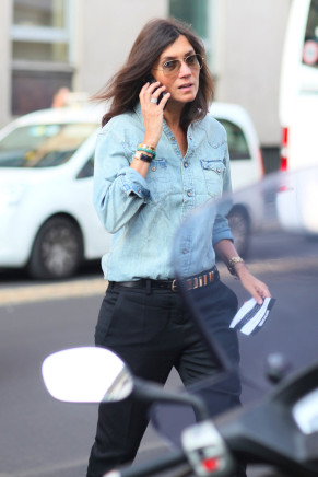 emmanuelle alt-denim shirt