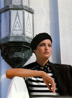 linda evangelista-ralph lauren campaign spring summer 1990