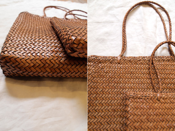 makie hand braided leather bag