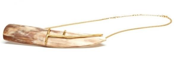 Edun Zanzibar Horn Necklace