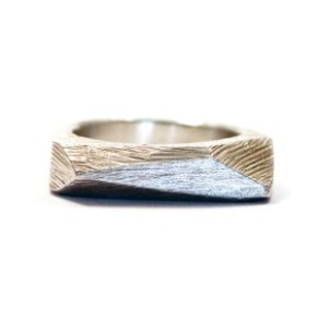 kerrie yeung silver faceted bar ring