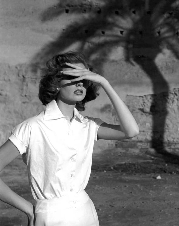 Suzy Parker by Georges Dambier, Morocco, ELLE, April  1953