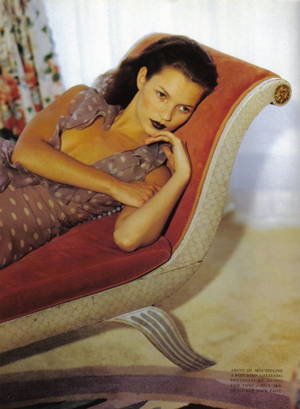kate moss by steven meisel vogue italia october 1996