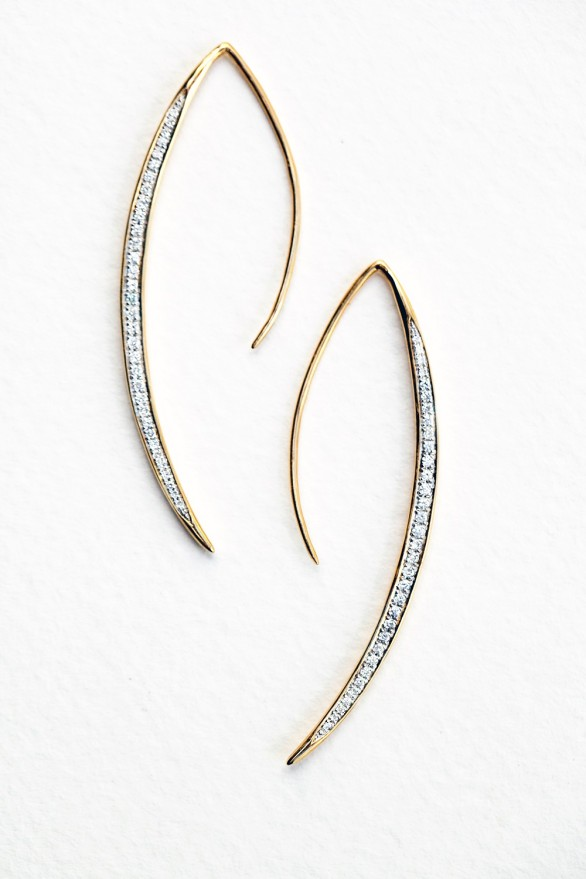 India Hicks Moon Sliver Earrings