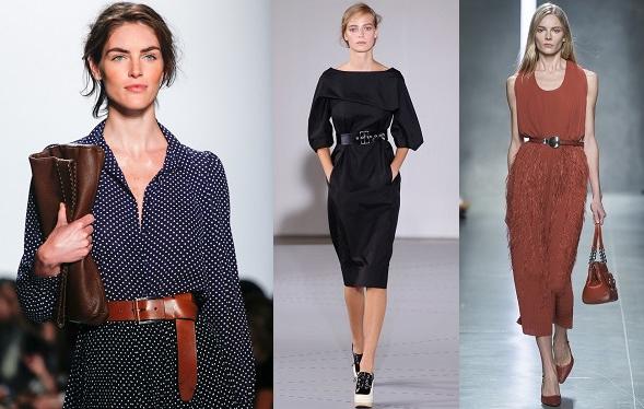 Spring 2014 Trend I can work-belted dresses