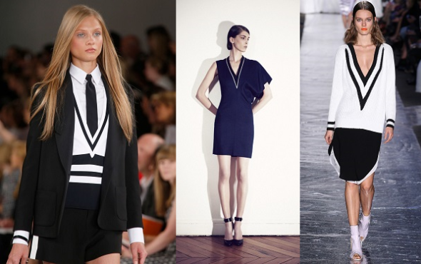 Spring Summer 2014 Trends I can work-V-necks and geometric prints