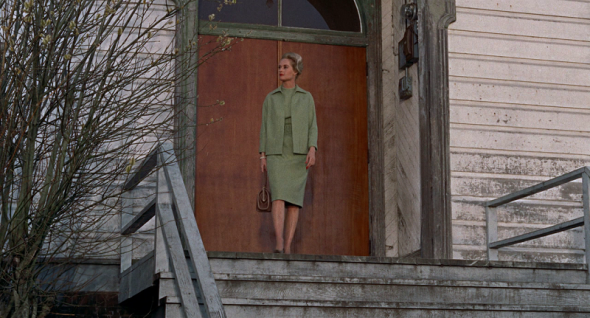 Tippi Hedren's green suit in The Birds