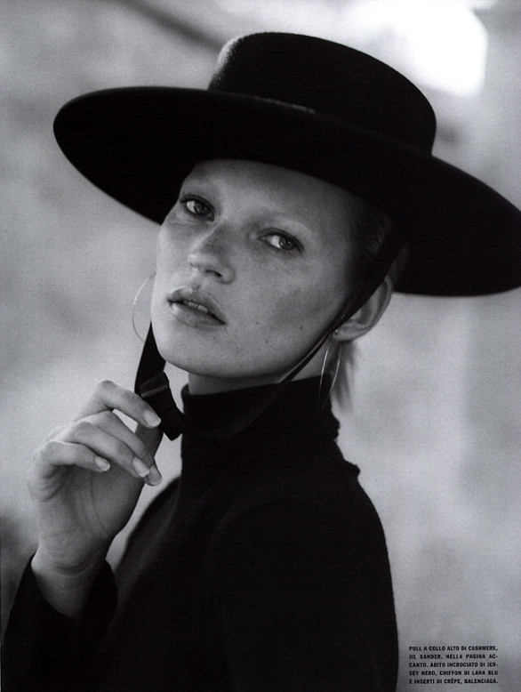 Kate Moss by Bruce Weber for Vogue Italia, October 2000