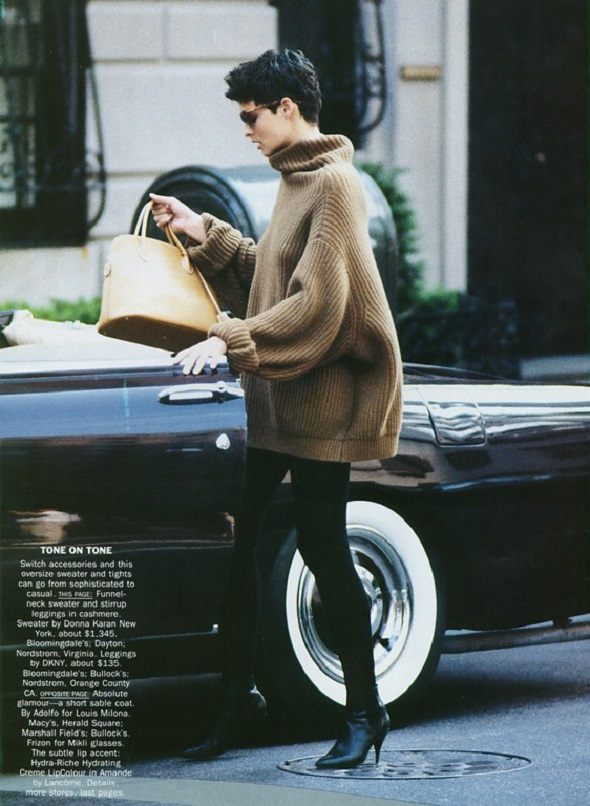 Vogue US September 1989 Linda Evangelista by Peter Lindbergh