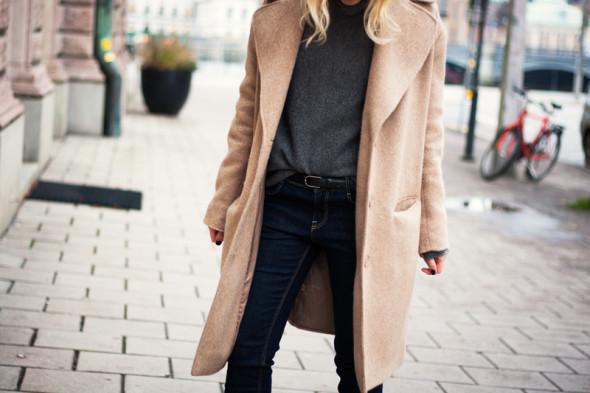 Winter style-beige coat-1