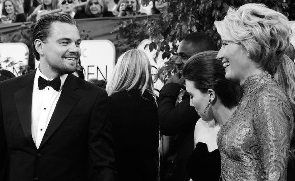 Leonardo DiCaprio and Emma Thompson-Golden Globes - 1