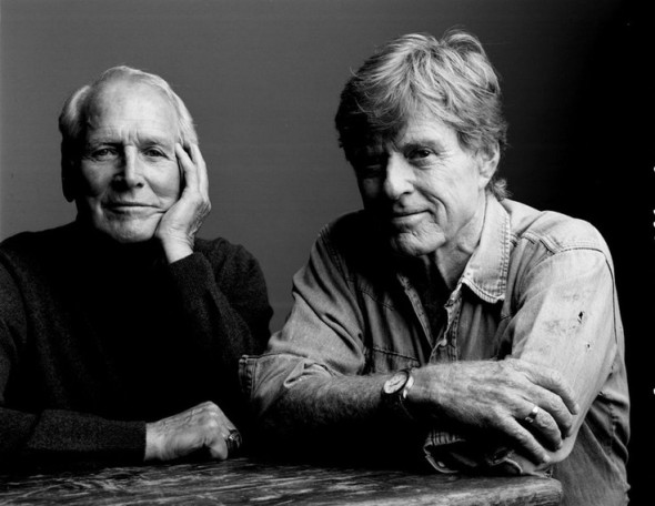 Robert Redford and Paul Newman by Mark Seliger