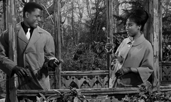 Style in Film-Sidney Poitier and Diahann Carroll-Paris Blues 1961