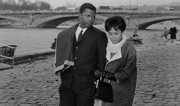 Style in Film-Sidney Poitier and Diahann Carroll -Paris Blues
