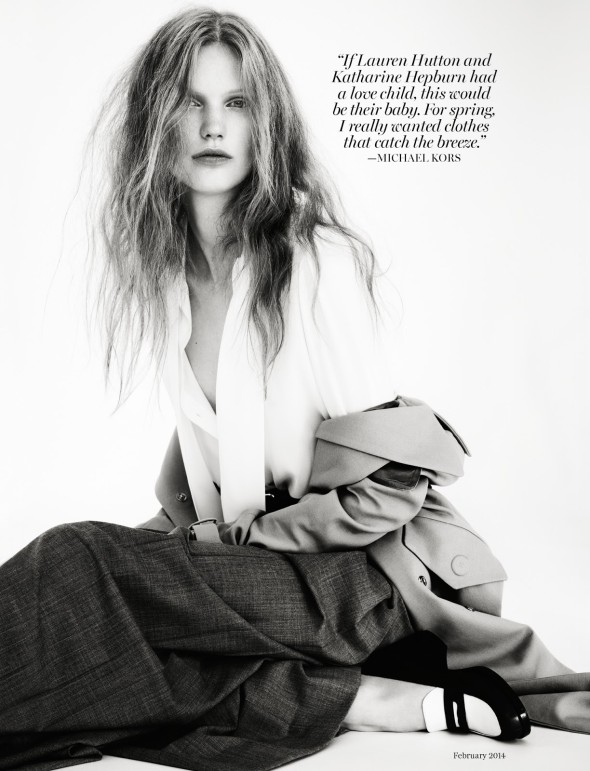 Anniek Kortleve by Markus Pritzi for Marie Claire US February 2014