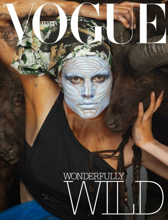 Saskia de Brauw by Steven Meisel (Vogue Italia March 2014)
