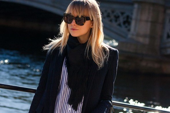 Three classic pieces for spring-pinstriped blazer