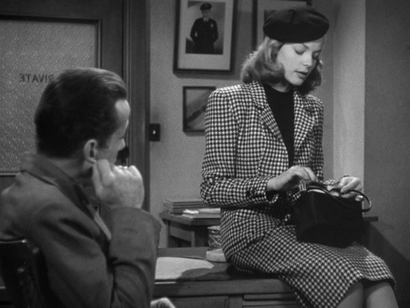 Lauren Bacall's style The Big Sleep