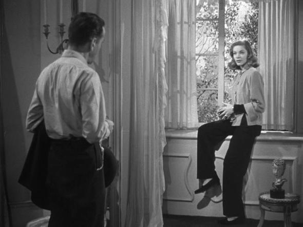 Lauren Bacall's style in The Big Sleep