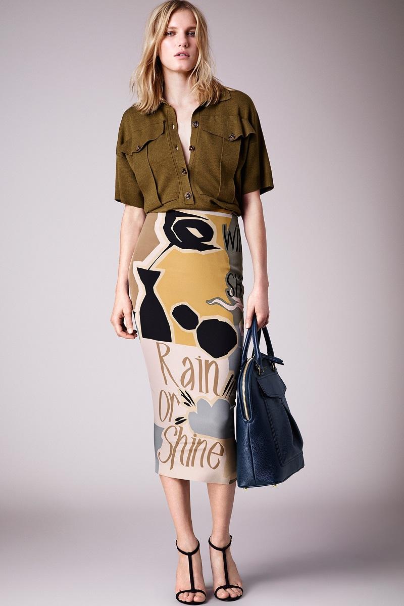 Burberry Prorsum Runway London Fashion Week Aw14: Burberry's Printed Skirts