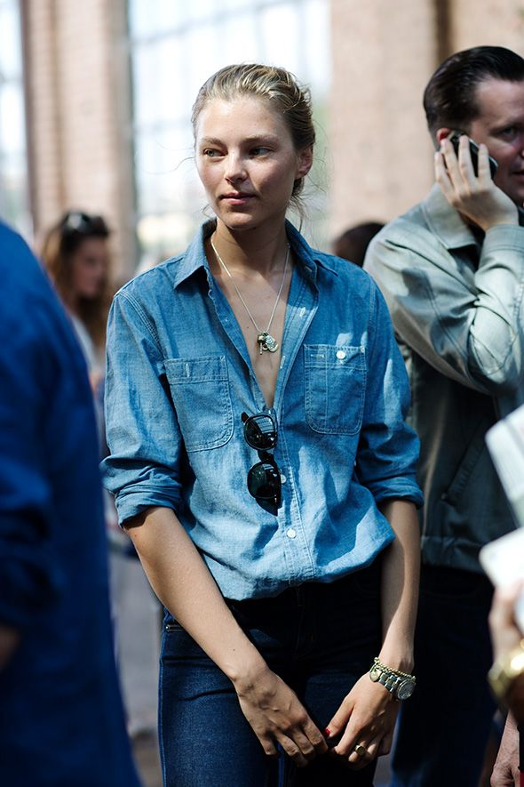 Denim on denim-The Sartorialist