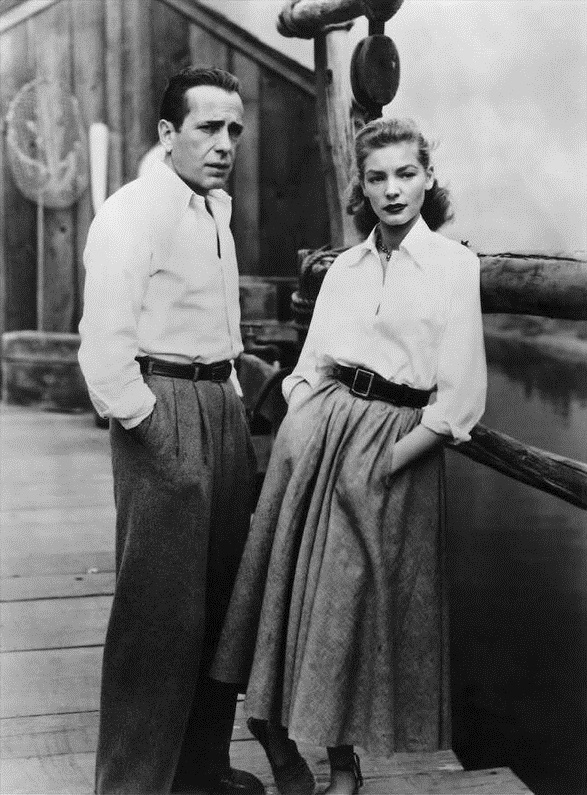 Lauren Bacall and Humphrey Bogart in Key Largo