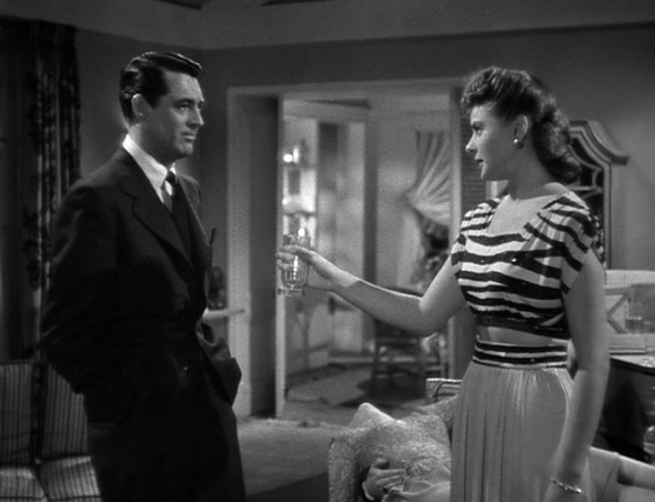 Style in film-Ingrid Bergman and Cary Grant in Notorious