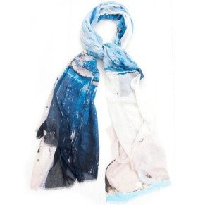 Bird and Knoll-Santorini blue scarf