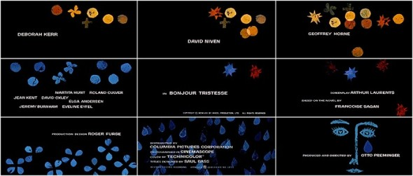 Bonjour Tristesse Title Sequences- by Saul Bass