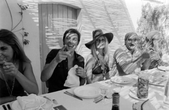 Brigitte Bardot and Alain Delon St Tropez 1968