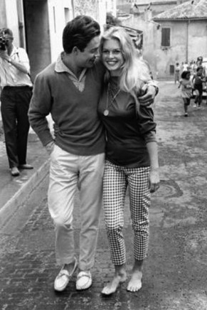 Brigitte Bardot and Jacques Charrier St Tropez 1959