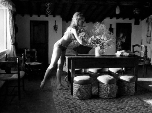 Brigitte Bardot at her villa in St Tropez