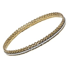 Cynthia Gale Borobodur Lotus Open Sterling  Bronze Bangle-1