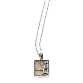 Cynthia Gale Fossil Bambu Repousse Necklace