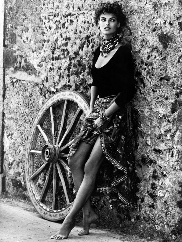 Linda Evangelista for Kenar Spring Summer 1992 campaign