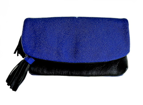 Mary Jo Matsumoto Summer Flash Sale-Cobalt Stingray Clutch