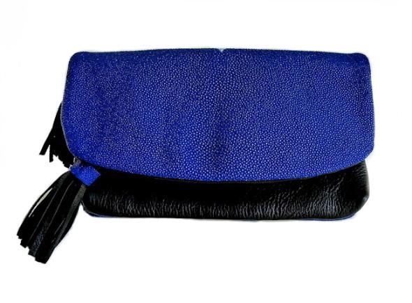 Mary Jo Matsumoto Summer Flash Sale-Cobalt Stingray Clutch