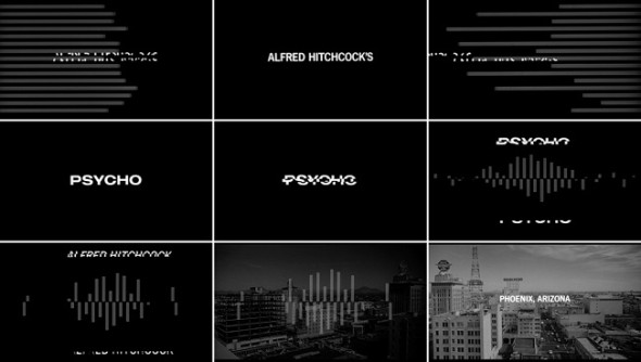 Psycho title sequence Saul Bass