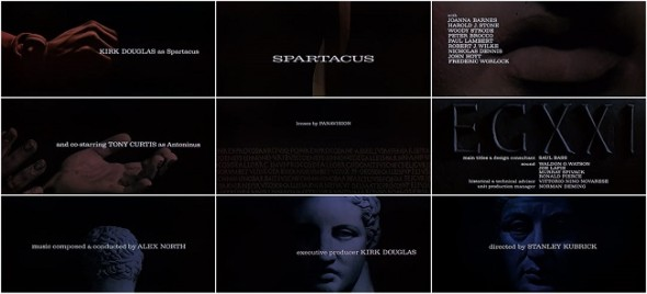 Spartacus title sequences by Saul Bass
