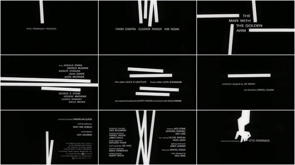 The Man with the Golden Arm title sequences by Saul Bass