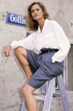 The summer look of Lauren Hutton-1987