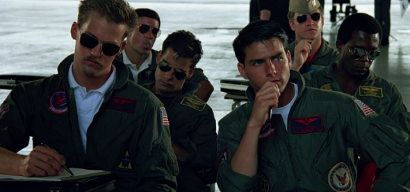 Top Gun and the Aviator sunglasses