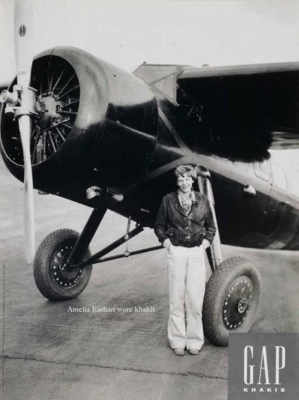 Amelia Earhart Wore Khakis-Gap campaign